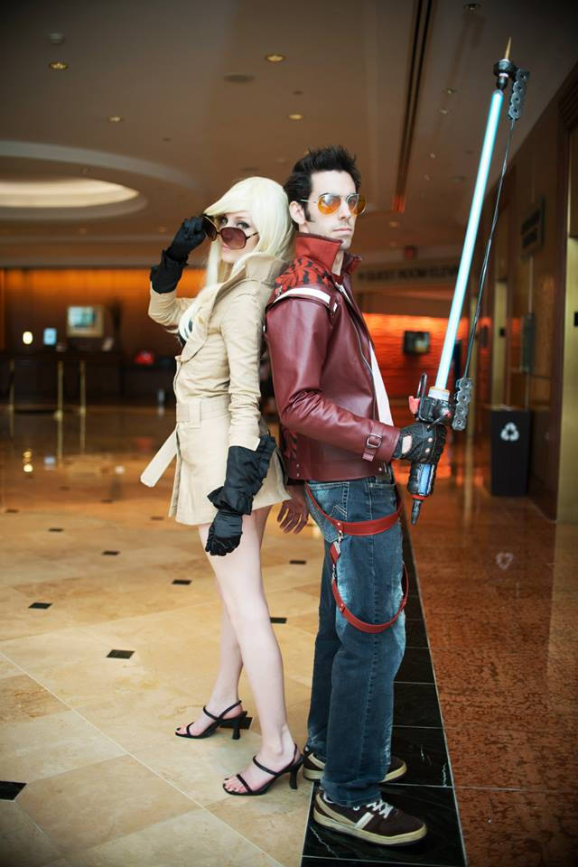 Youmacon 2013 - No More Heroes - Sylvia and Travis by ByndoGehk