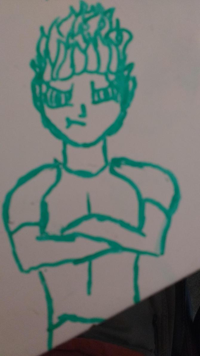 Pouty Ari: A tabletop doodle by redwolfradolf