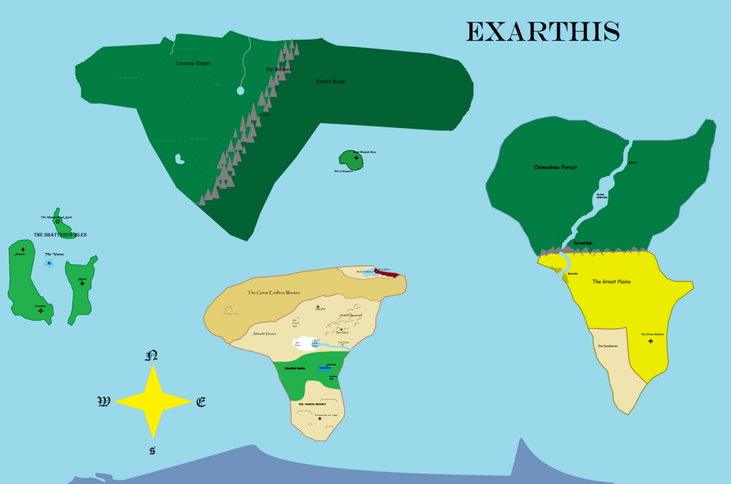 Exarthis Surface Map by redwolfradolf