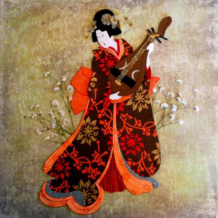 wallpaper geisha corals girl - photo #31