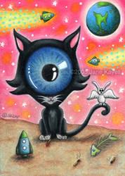 Space Kitty by katat0nik