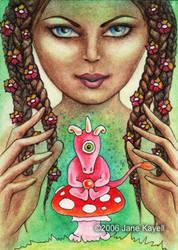 Nature Goddess - collaboration by katat0nik