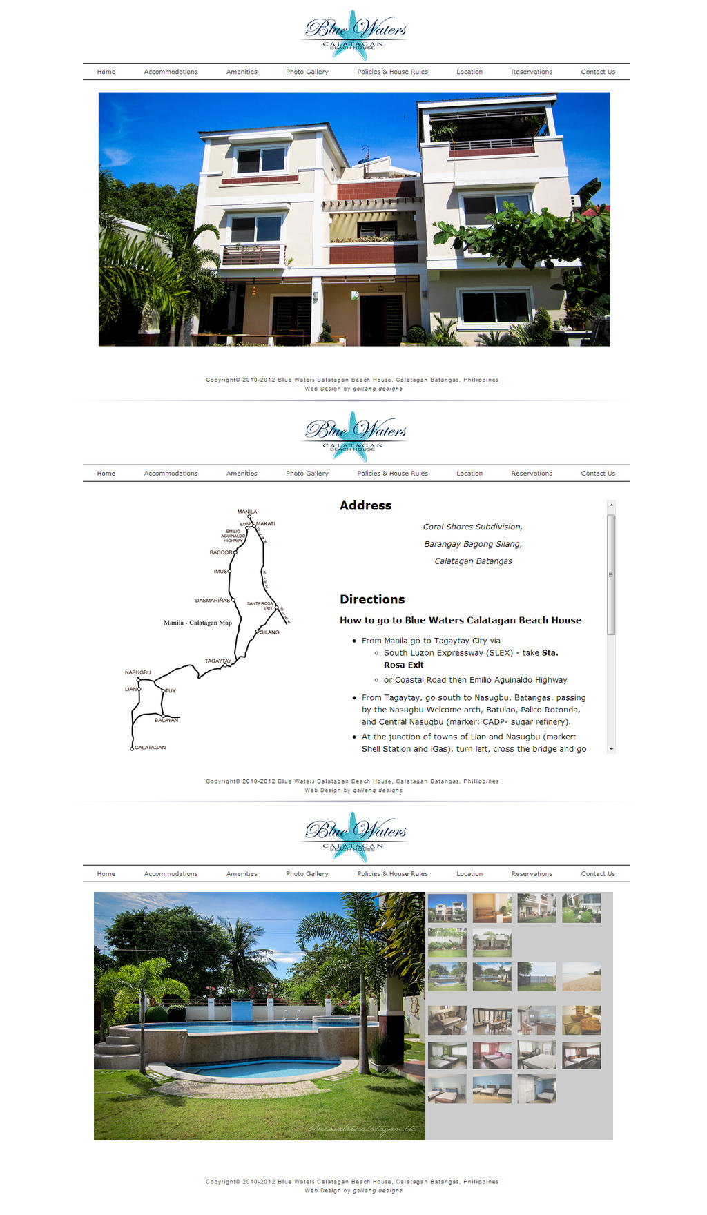 Web Design: Blue Waters Calatagan Beach House by margedesigns