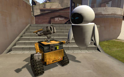 Wall.E and EVE by CuteYoshiLover