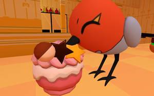 Fletching munching on a pokepuff by CuteYoshiLover