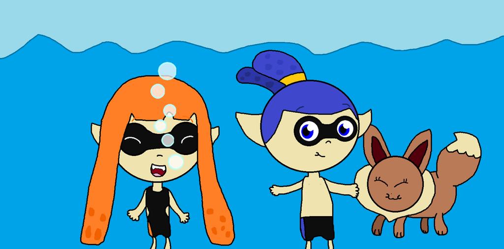 3 Friends Underwater by 123emilymason