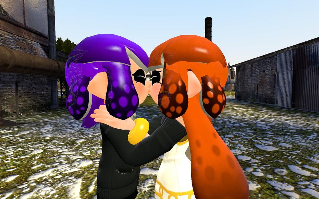 Ms plum and Ms butter scotch's wedding kiss by 123emilymason