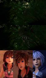 Sora, Kairi and Riku encounters Carnotaurus