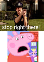 Sergeant Anous caught peppa!!