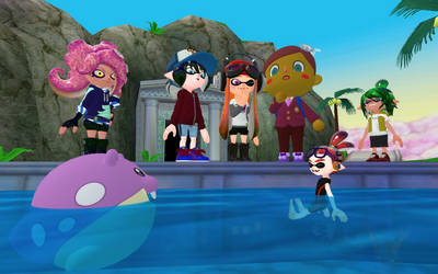 In the chao garden together
