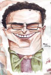 Leonard Hofstadter - boceto en acuarela