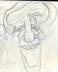Boceto de Tabare Vazquez
