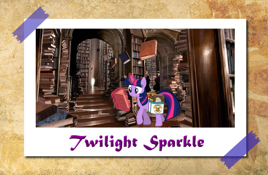twilight_sparkle_at_hogwarts_library_by_