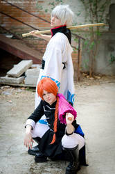 Gintama: Gintoki and Kamui by aruftw