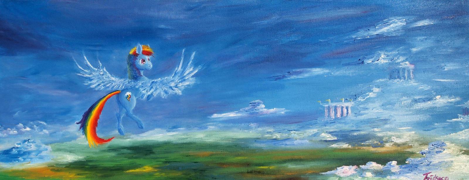 Dashing through Cloudsdale by Tridgeon