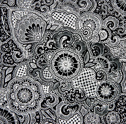 White Henna-Inspired Design by granowsb on DeviantArt