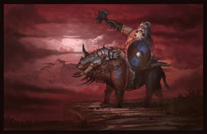 Mounted Dwarf Warrior by Wolfgan