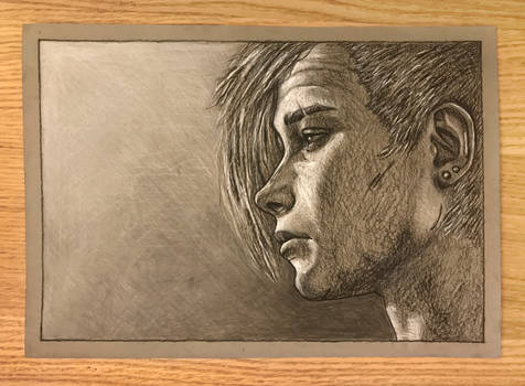 Minerva - TWD Game - Charcoal Drawing