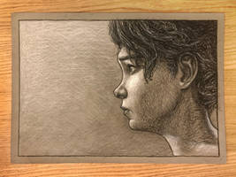 Clem - TWD Game - Charcoal Drawing