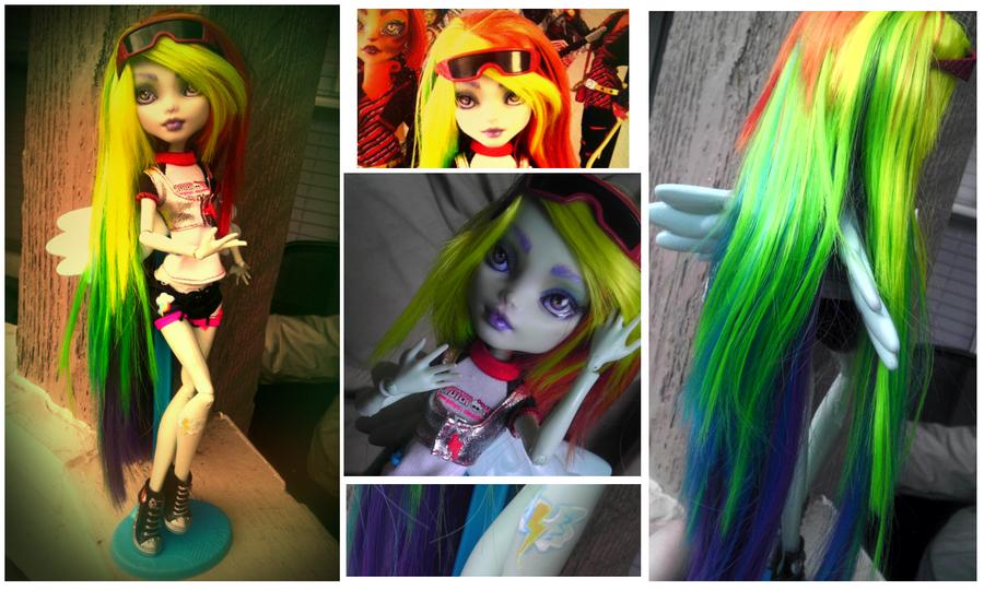 Как сделать кукле монстр хай волосы видео