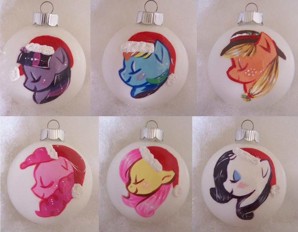Mane 6 Christmas Ornaments by Busoni