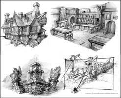 Fable Environment sketches by OmenD4