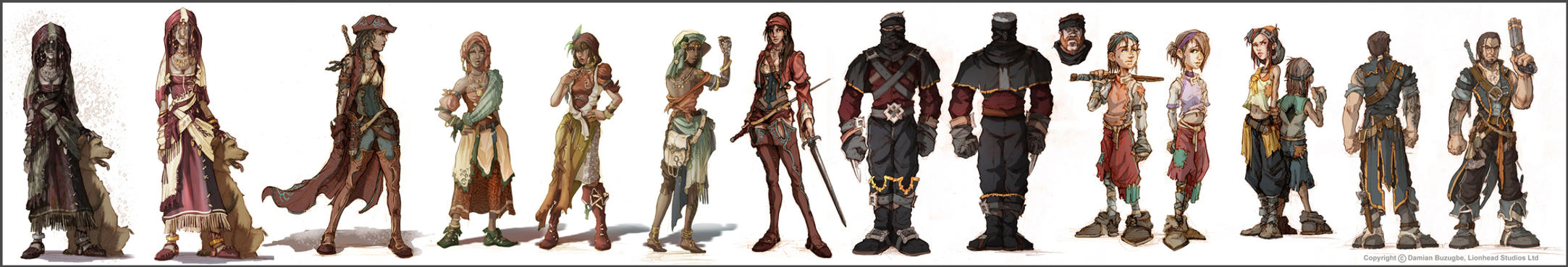 Fable 2 Colour concepts by OmenD4