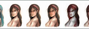 Fable 2 Female morph concepts by OmenD4