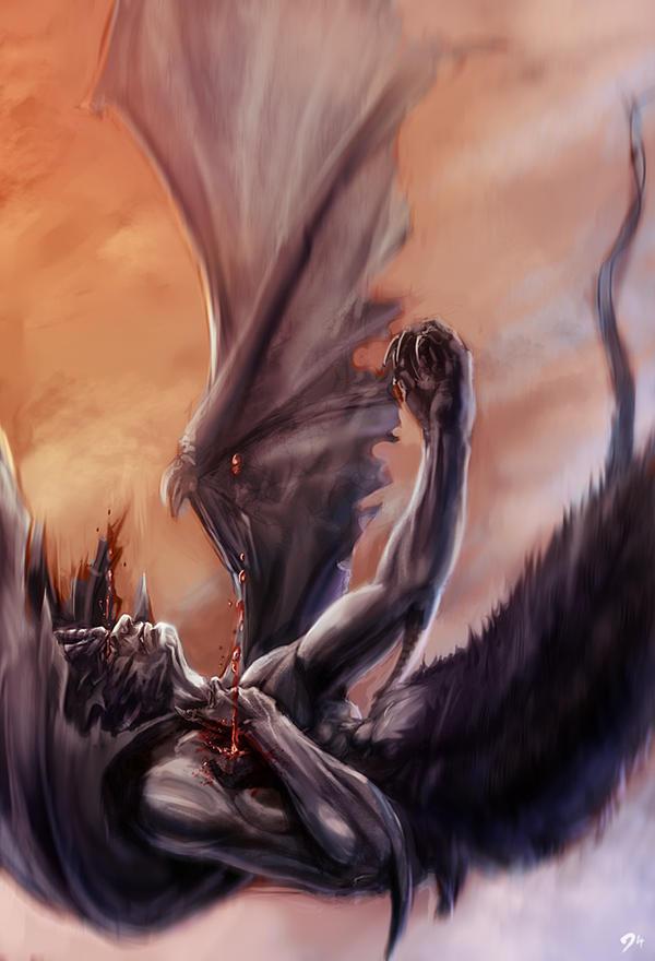 Death of Devilman by OmenD4