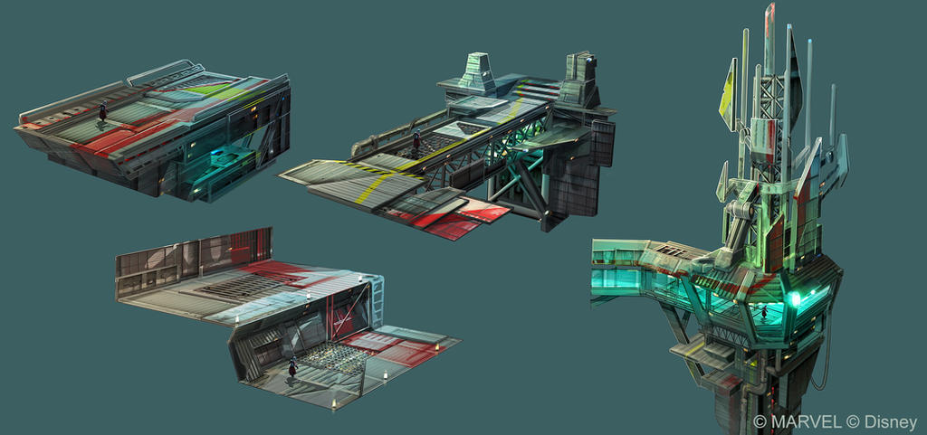 Disney Infinity 2.0 - Surface Docks v2 by OmenD4