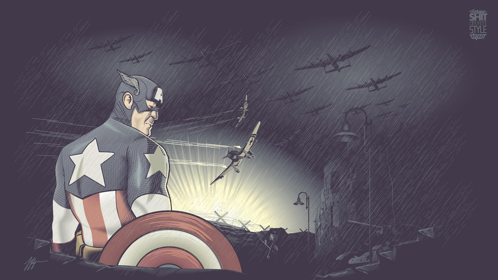 Captain America Vector by depot-hdm