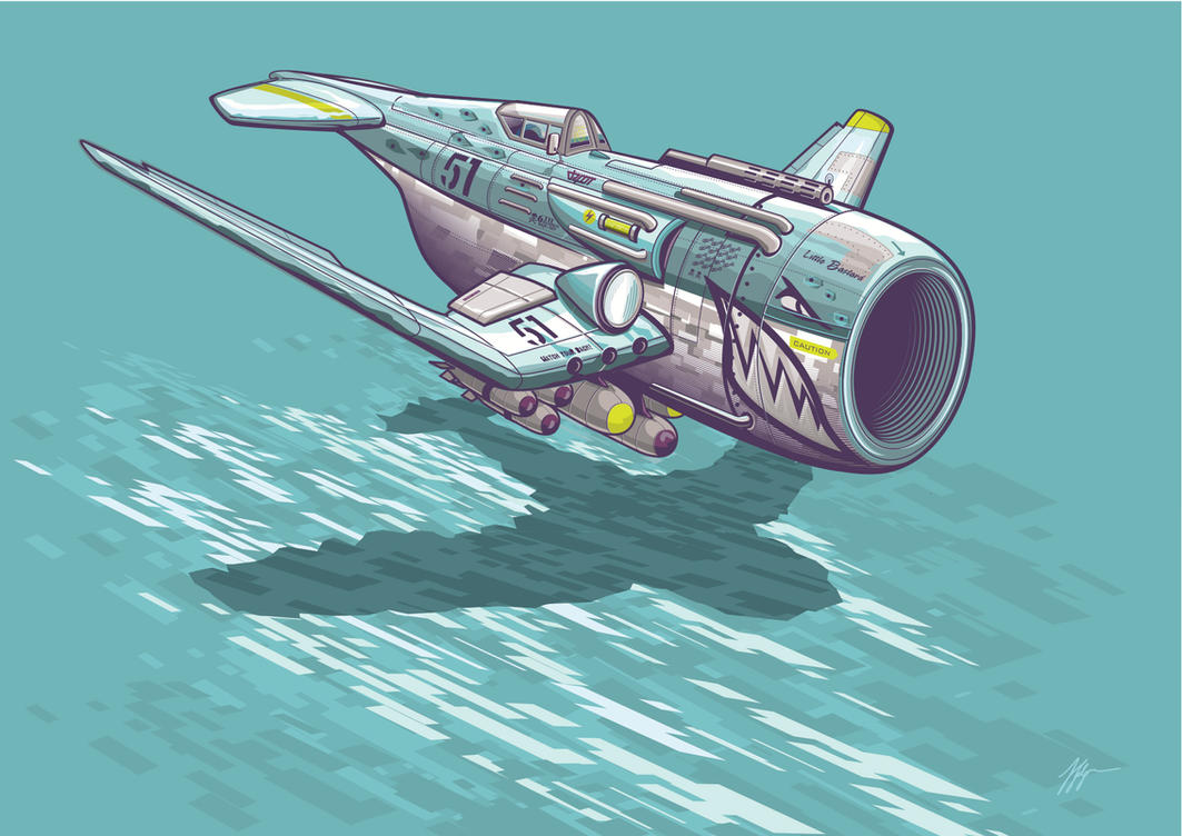 fighter concept vector by depot-hdm
