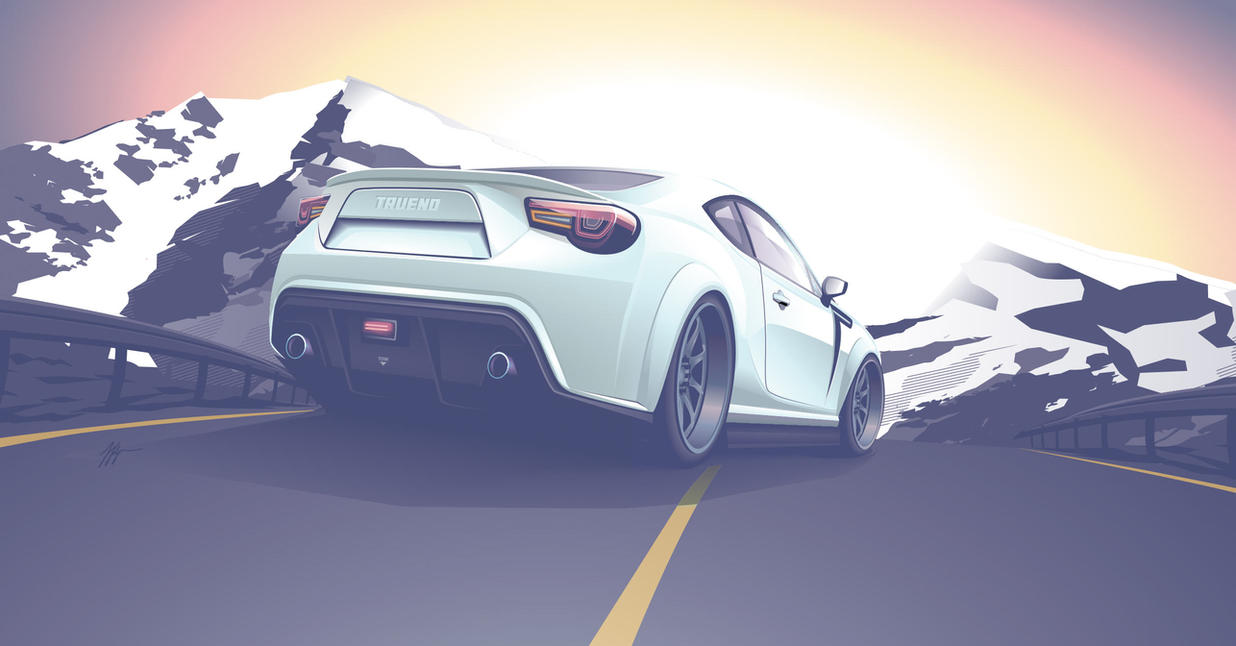 ft gt 86 toyota vector art by depot-hdm
