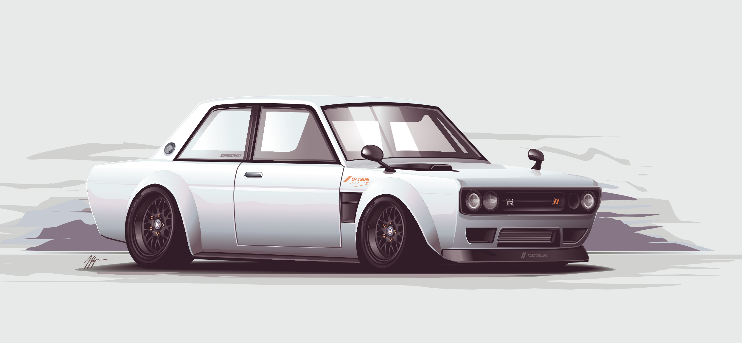 datsun 510 vector by depot-hdm