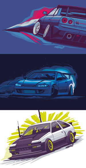 krepkokrepko s15 r34 and ae86 shirt designs