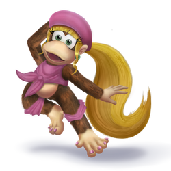 DIXIE KONG for smash 4! Transparent by veemon-tamer