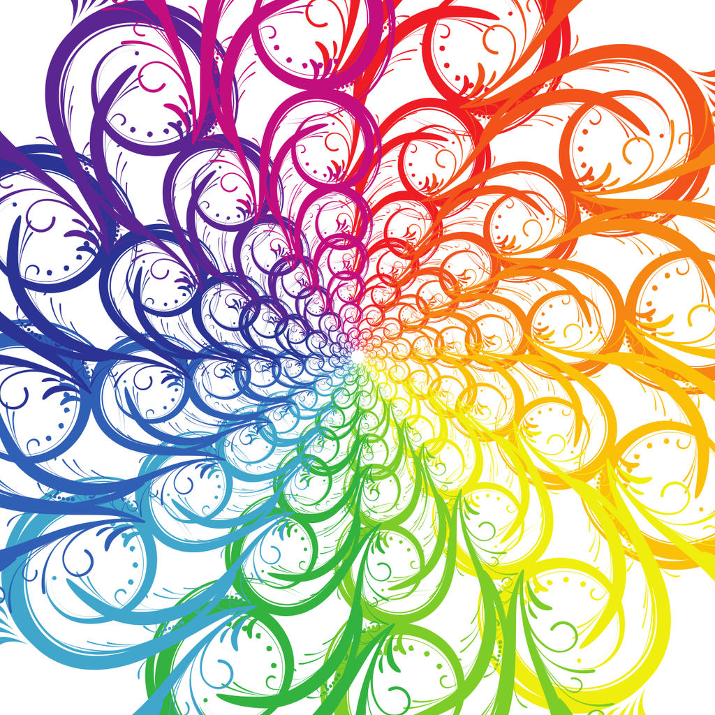 Spiral Color Wheel by Tlong2011
