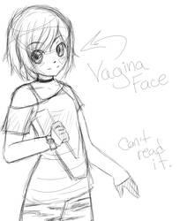 Vagina Face Sketch by DaDoofus