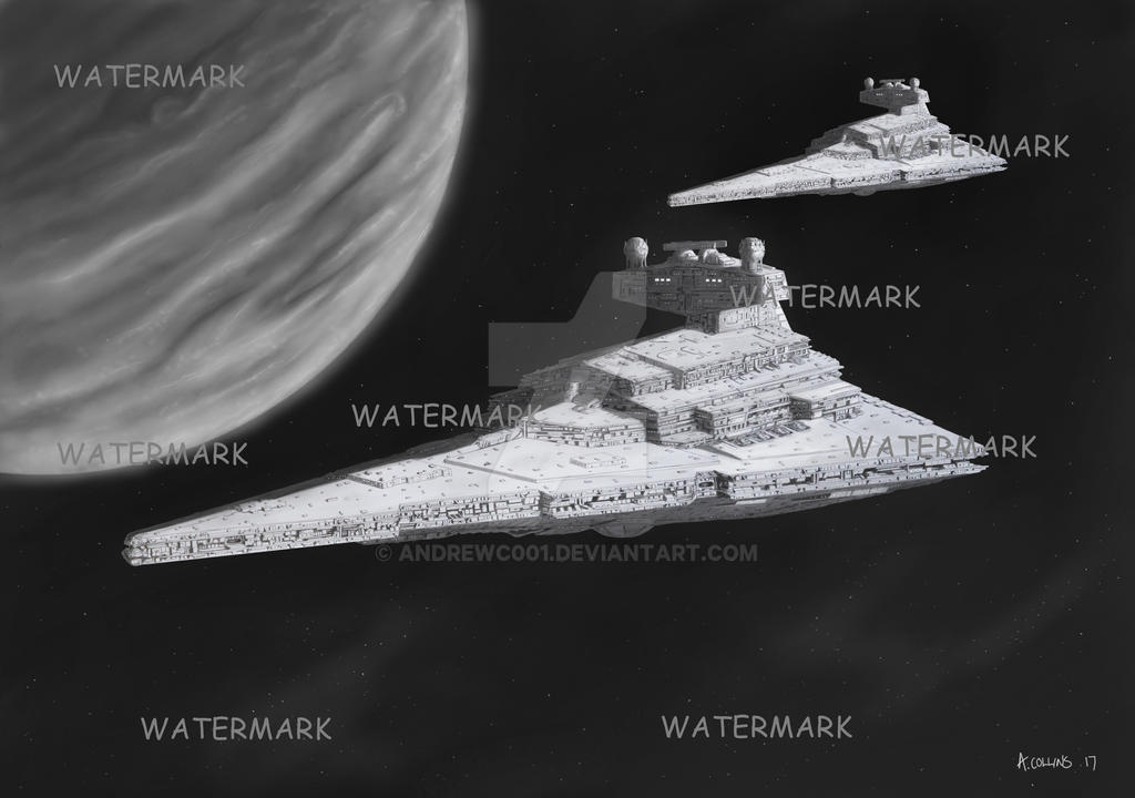 STAR WARS STAR DESTROYER SKETCH System Patrol by AndrewC001