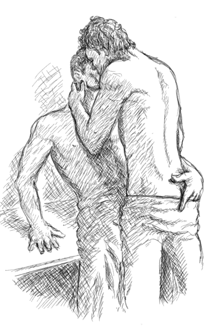 Kiss Of The Day Sketch #7 by serenada