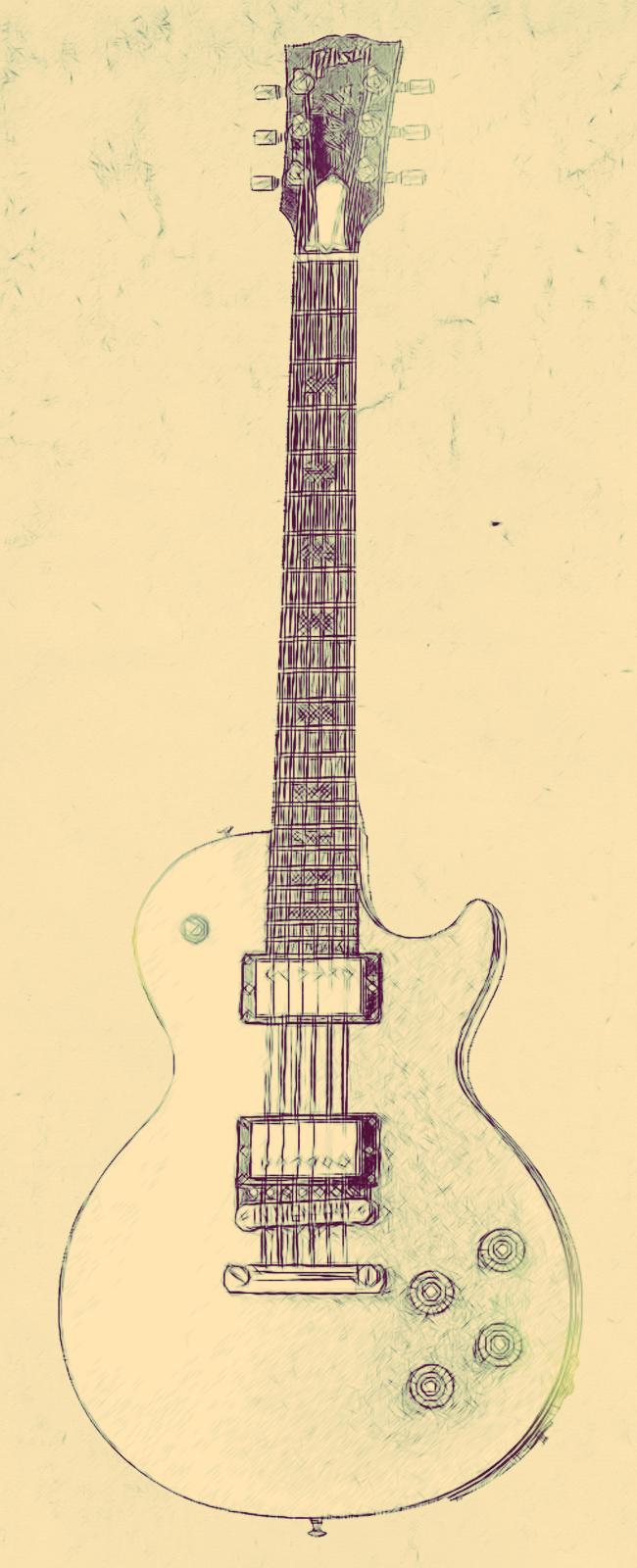 Les Paul Sketch by alesfuck