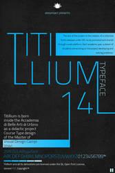 Titillium Typeface by alesfuck