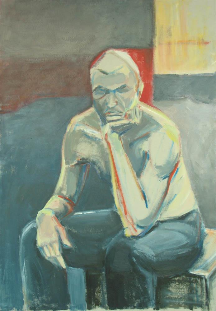Sad Art Paintings Sad Man by Aga Art