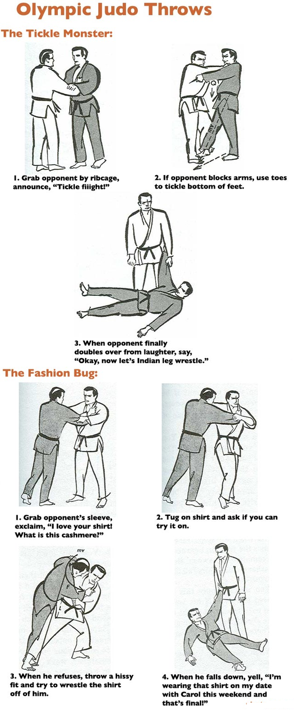 Judo Throws: The Tickle Monster and Fashion Bug by ...