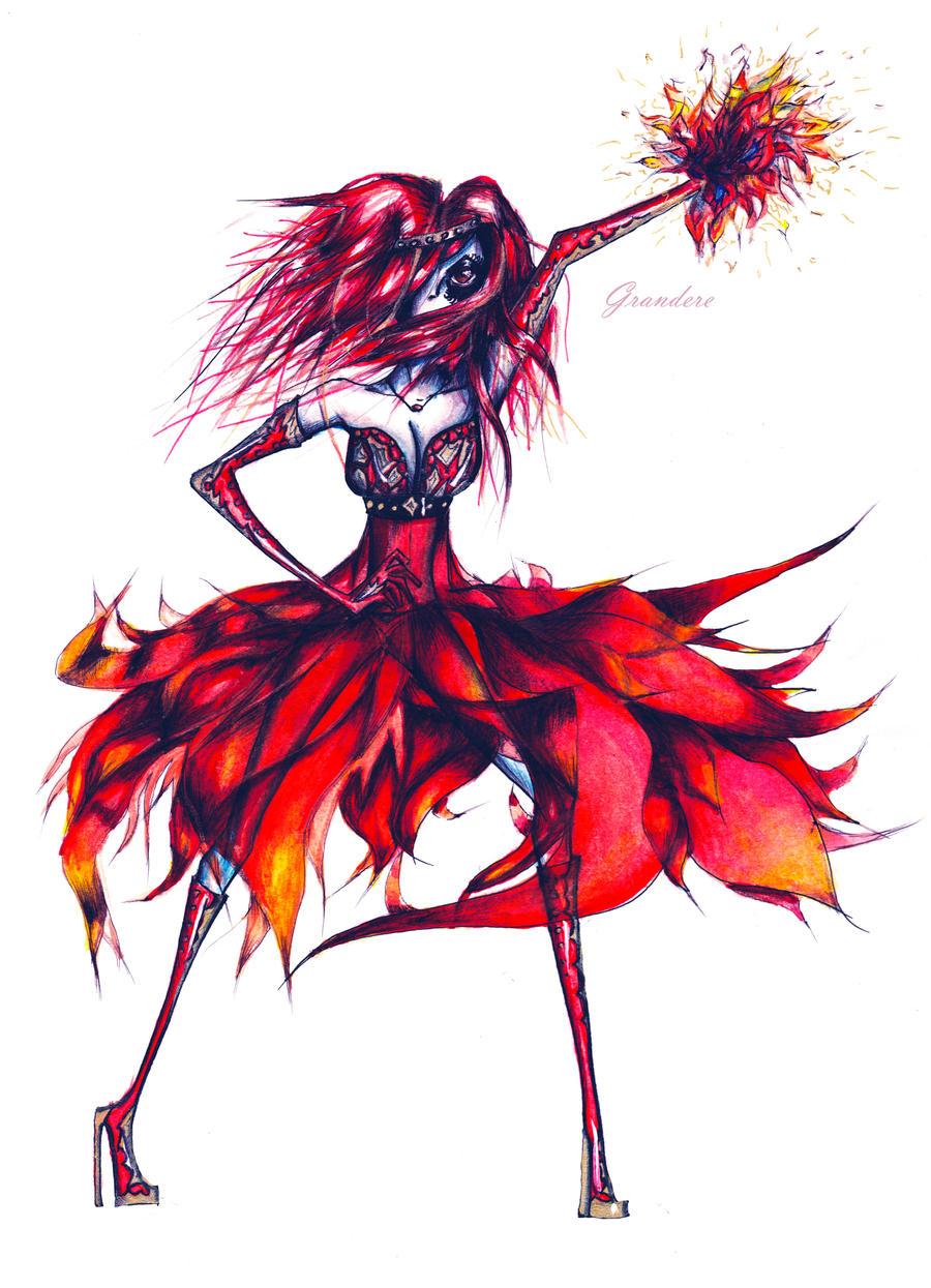 Fiery power by Grandere