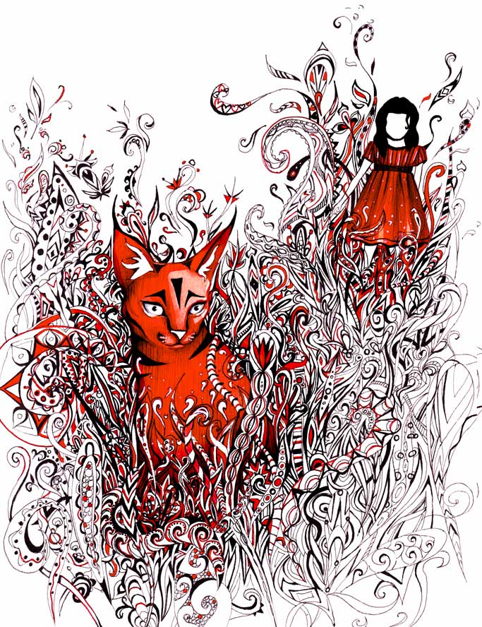 Red lynx by Grandere