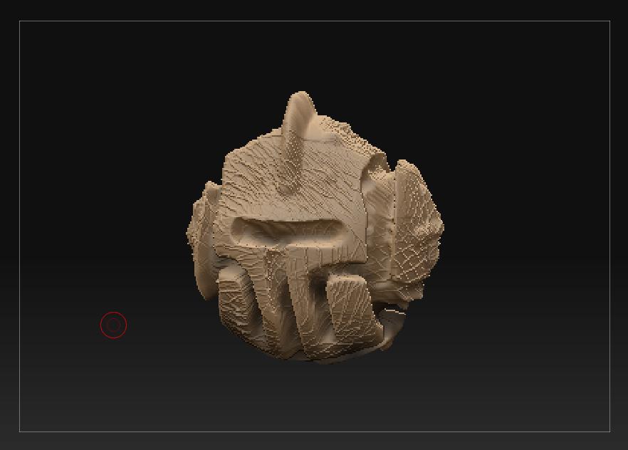 ZBrush helmet sculpt