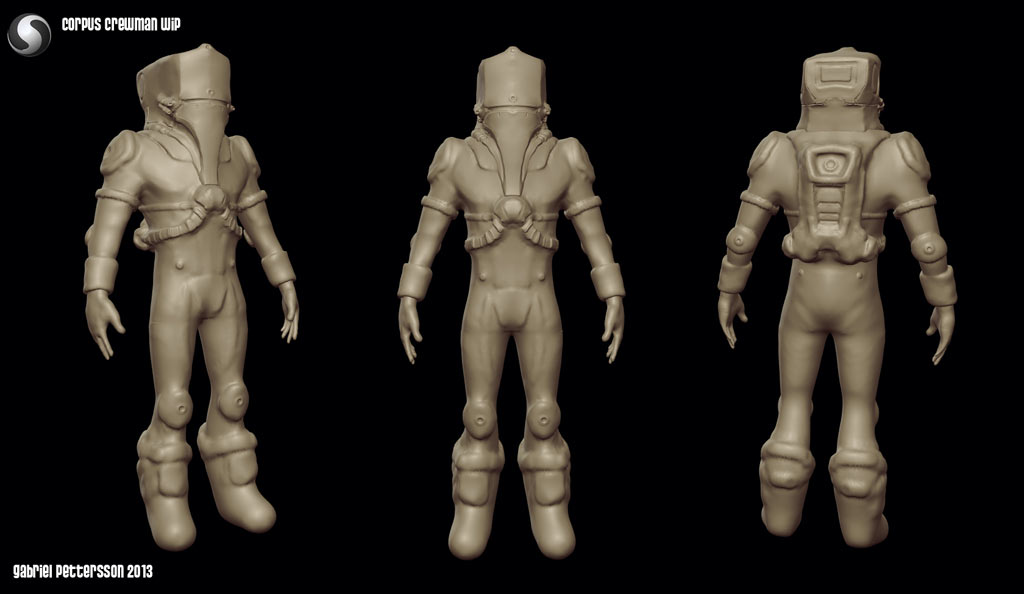 Sculptris crewman wip