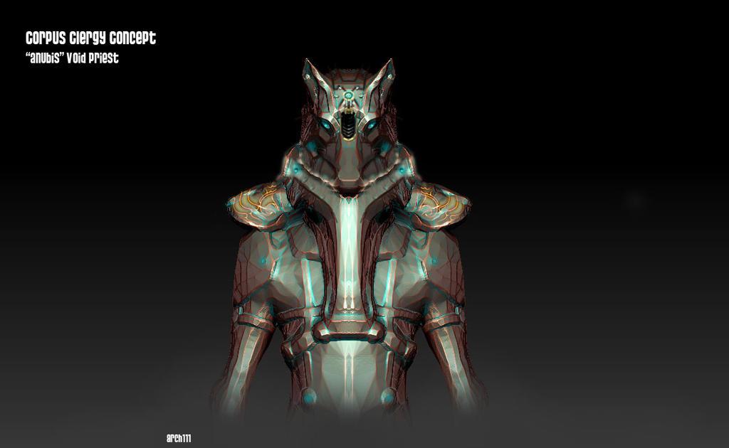 Warframe fan concept Corpus Clergy :  Anubis by gaber111