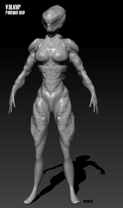 Valkyr model in progress (new iteration) by gaber111